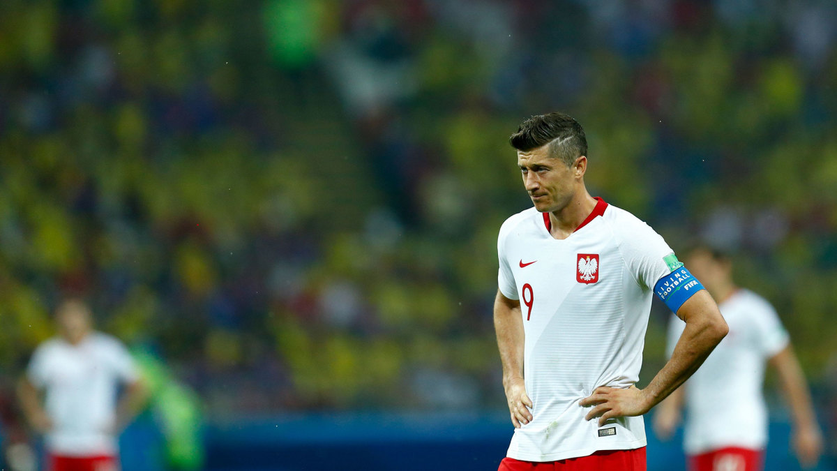 Robert Lewandowski and Poland crashed out of the 2018 World Cup