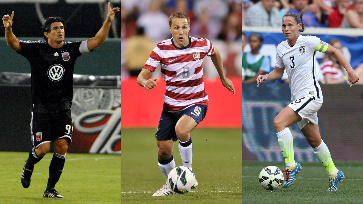 Jaime Moreno, Steve Cherundolo and Christie Pearce are inducted to the National Soccer Hall of Fame