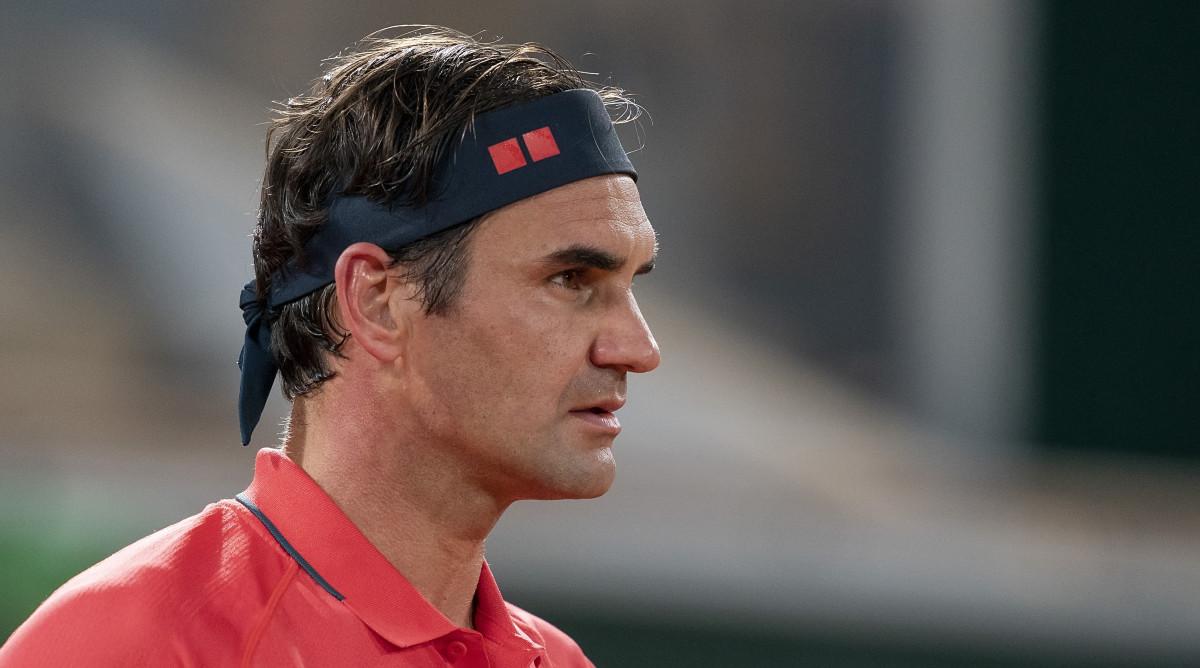 Professional tennis player Roger Federer