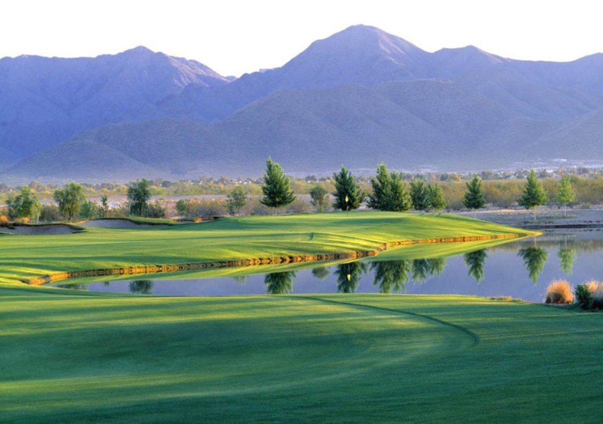 Bill Coore and Ben Crenshaw designed Talking Stick Golf Club's Piipaash Course (formerly the South Course) in a parkland style.