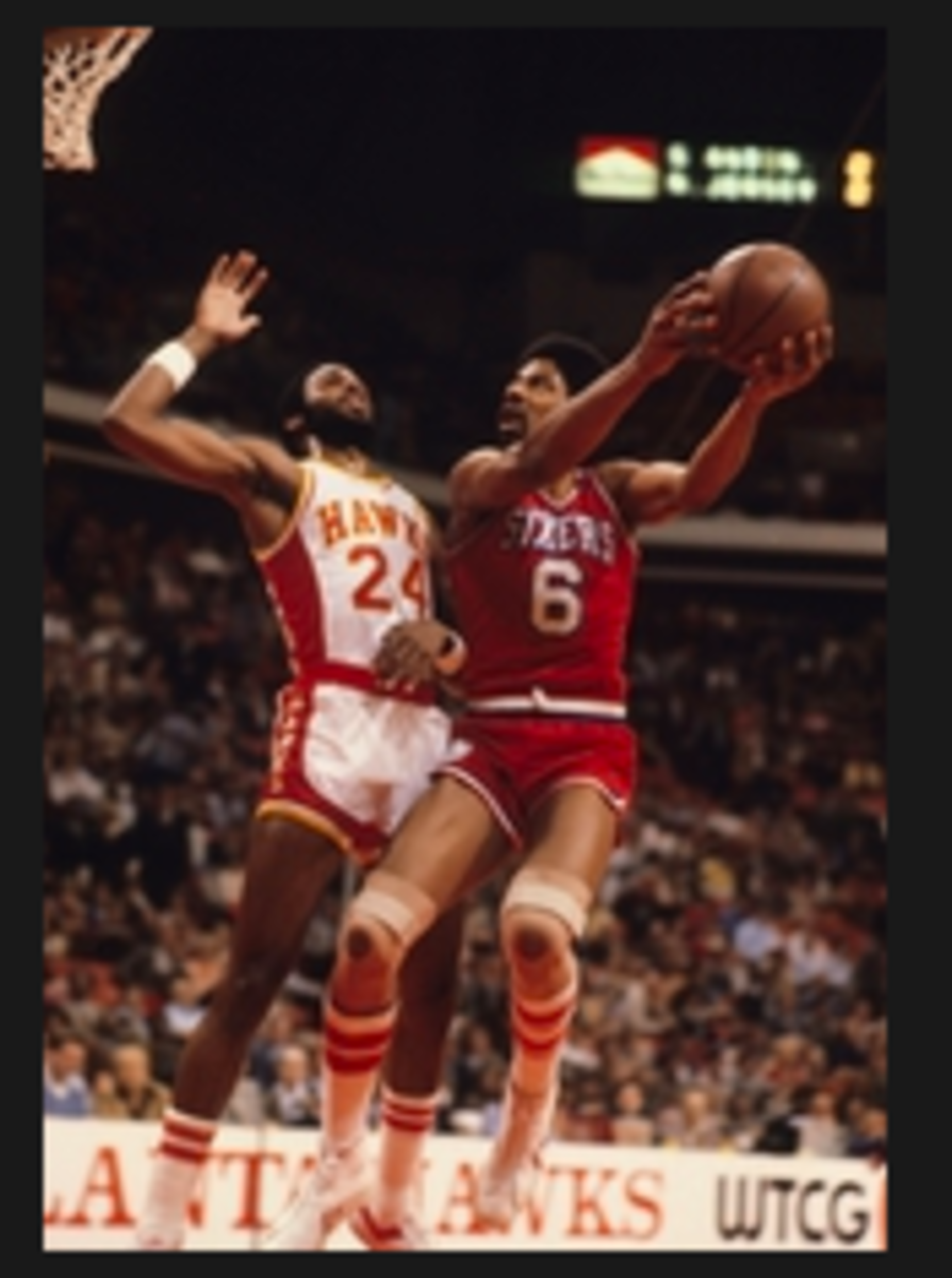 After a career at Princeton, Armond Hill was the ninth overall pick of the Atlanta Hawks in 1976 and had an eight-year NBA career. He's pictured here guarding Hall of Famer Julius Erving. (USA TODAY Sports)