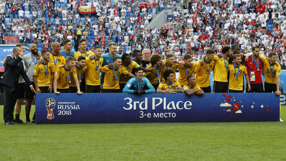 Belgium finished third in the 2018 World Cup