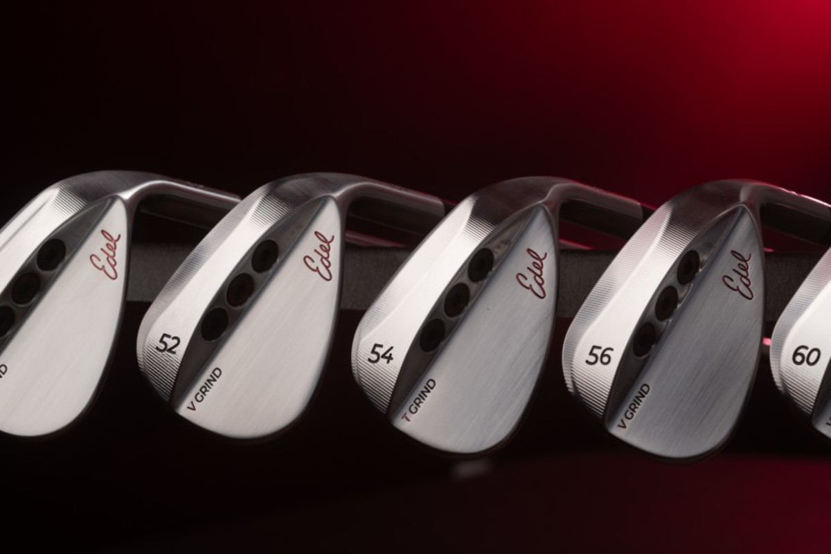 Edel's three-port, interchangeable weight system on its wedges can improve distance up to 44 percent.