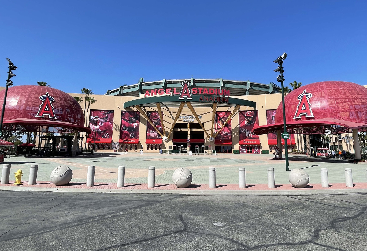 Harkins says the Angels barred him from returning to their stadium to clean out his office and collect his belongings.