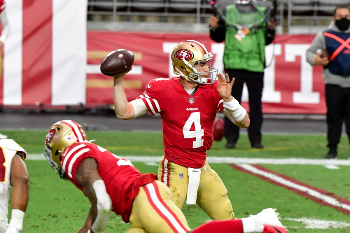 Quarterback Nick Mullens signed with the Eagles on June 14, 2021