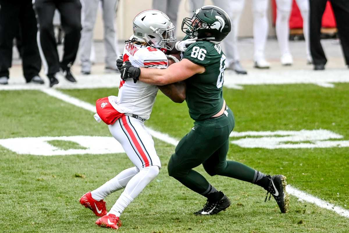 Drew Beesley was a big part of the Spartans defense in 2020.