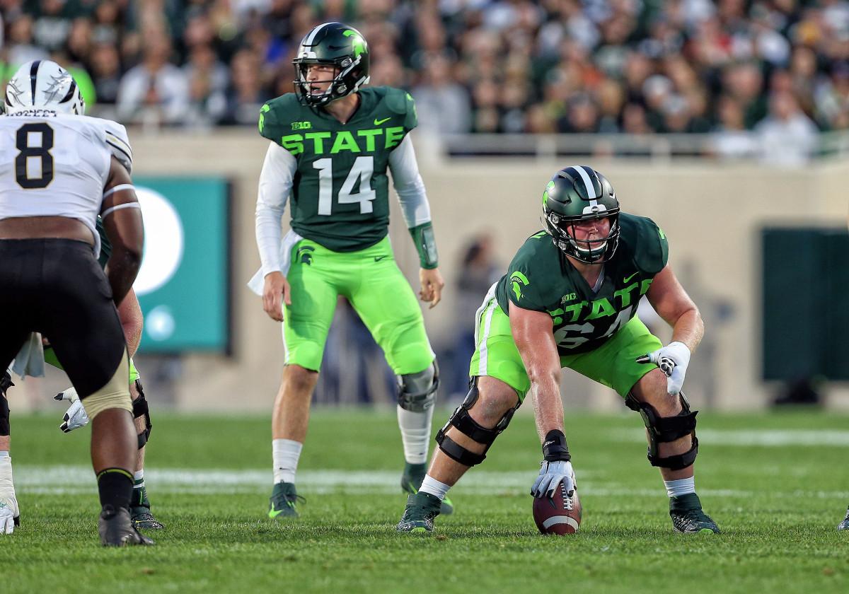 Matt Allen has plenty of experience starting at center for the Spartans.
