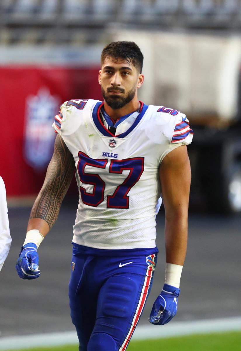 Buffalo Bills defensive end AJ Epenesa (57) against the Arizona Cardinals at State Farm Stadium.
