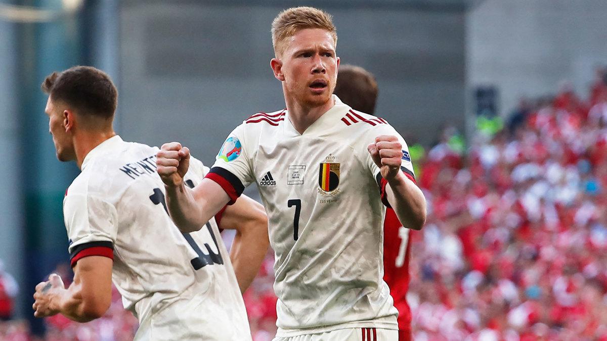 Kevin De Bruyne has a goal and assist for Belgium vs. Denmark