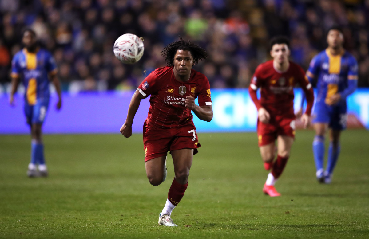 Yasser Larouci's last Liverpool first team appearance against Shrewsbury Town in the FA Cup     (Photo by PA Images/Sipa USA)