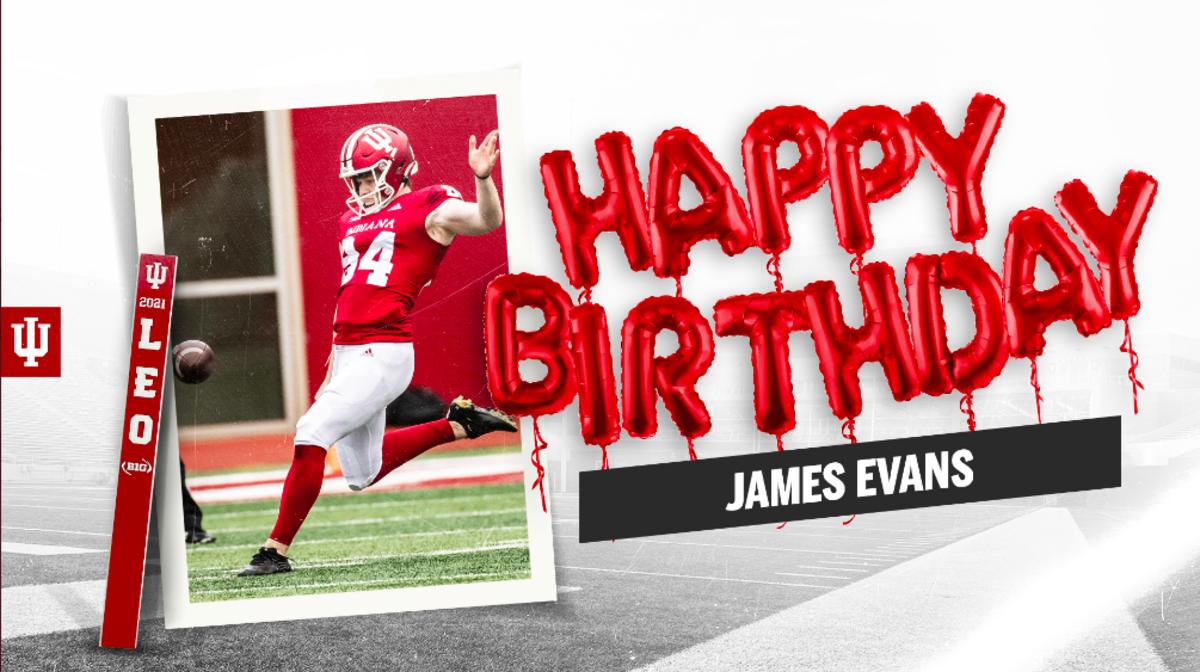 Indiana freshman punter James Evans turned 20 years old on May 17. (IU Athletics)