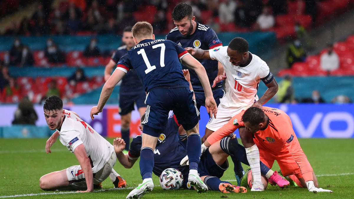 England and Scotland play to a draw at the Euros