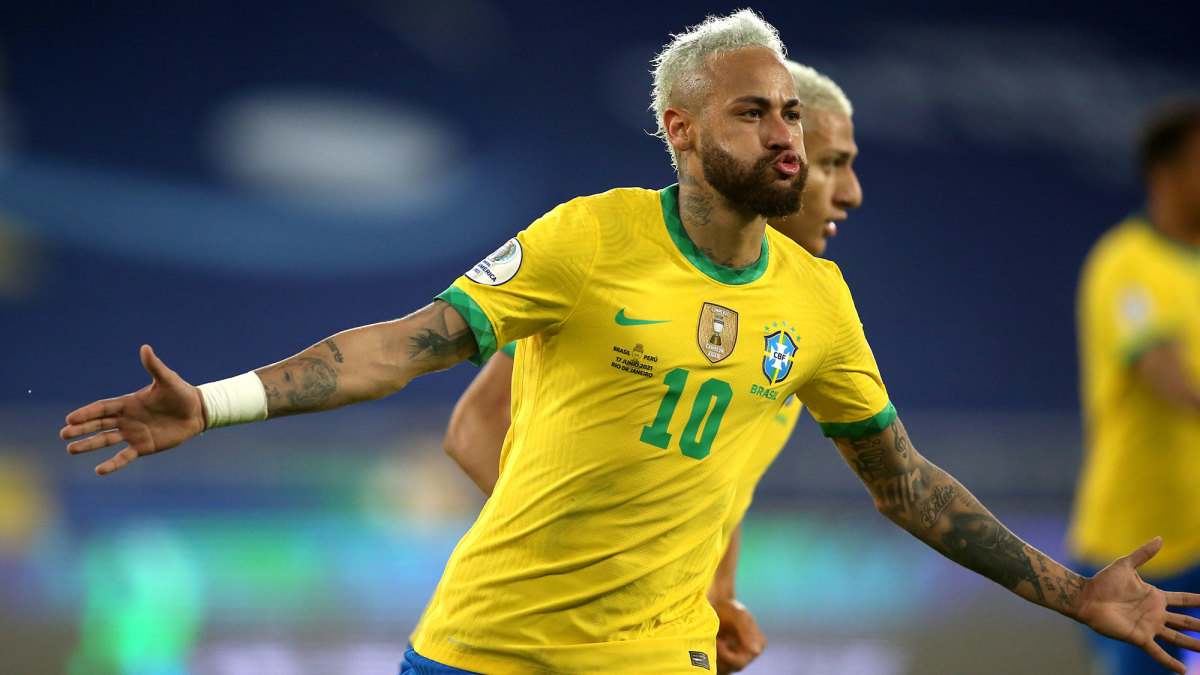 Neymar inches closer to Pelé's Brazil all-time goal record (VIDEO) - Sports  Illustrated