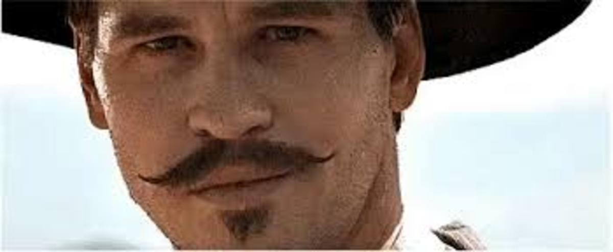 Val Kilmer had a distinctive look as Doc Holliday