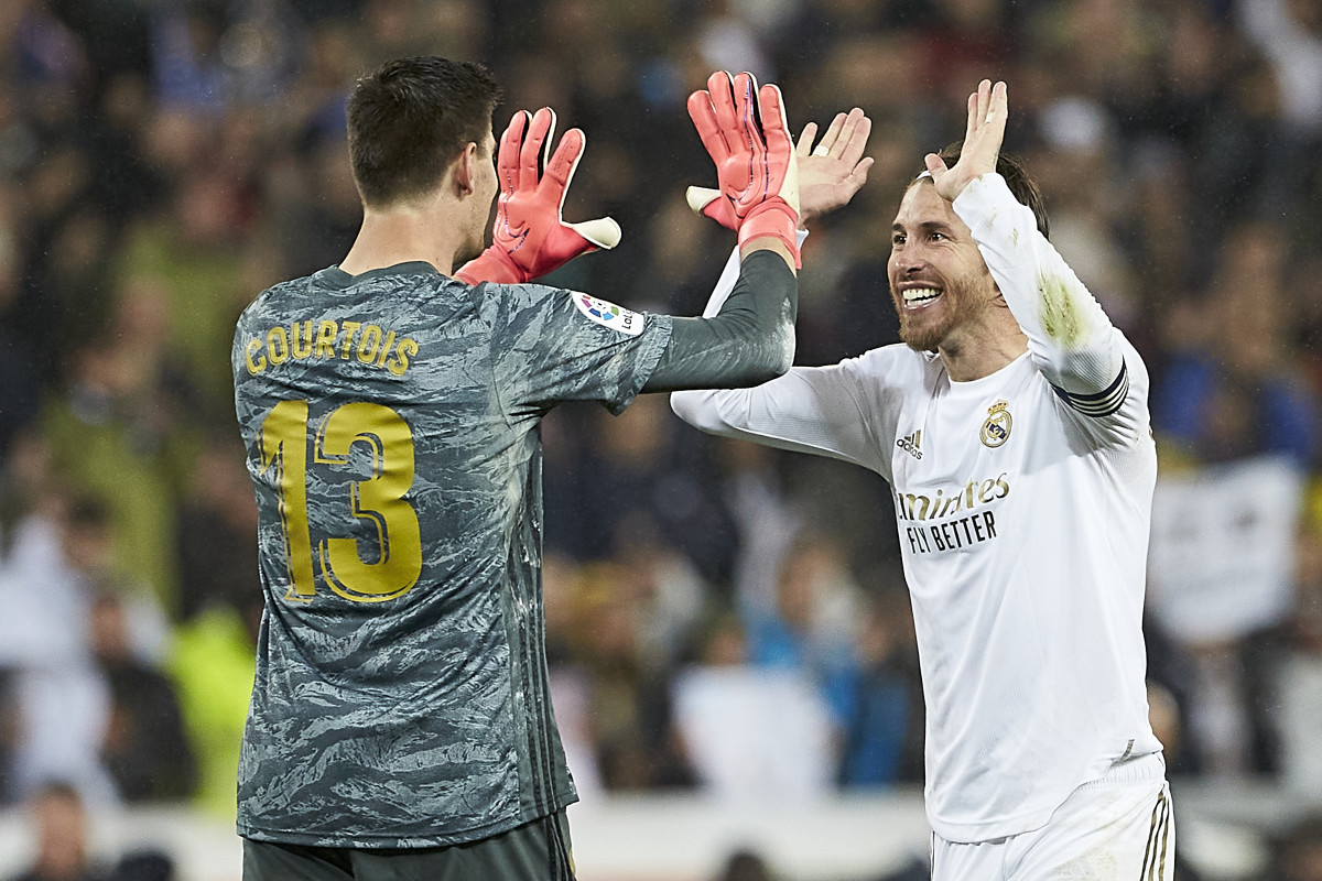 Thibaut Courtois has been a teammate of Sergio Ramos since the goalkeeper's departure from Chelsea in 2018