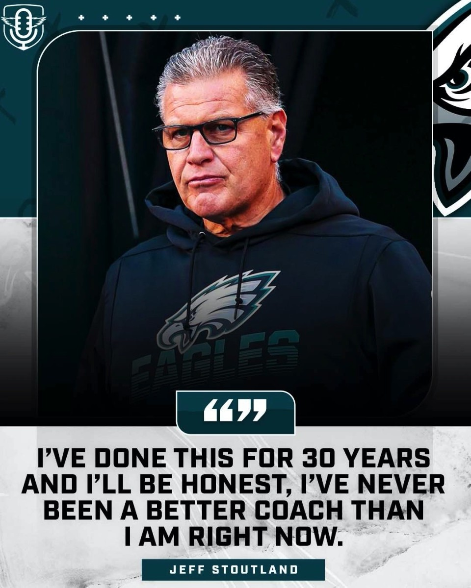 Eagles O-line coach Jeff Stoutland