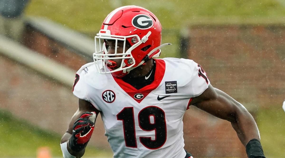 Georgia Bulldogs linebacker Adam Anderson (19)