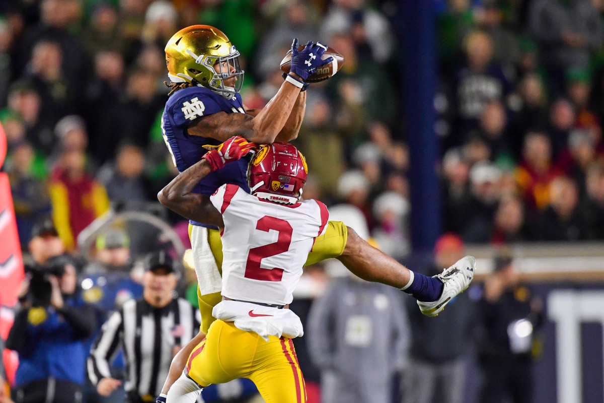 USC CB Olaijah Griffin, Notre Dame WR Chase Claypool