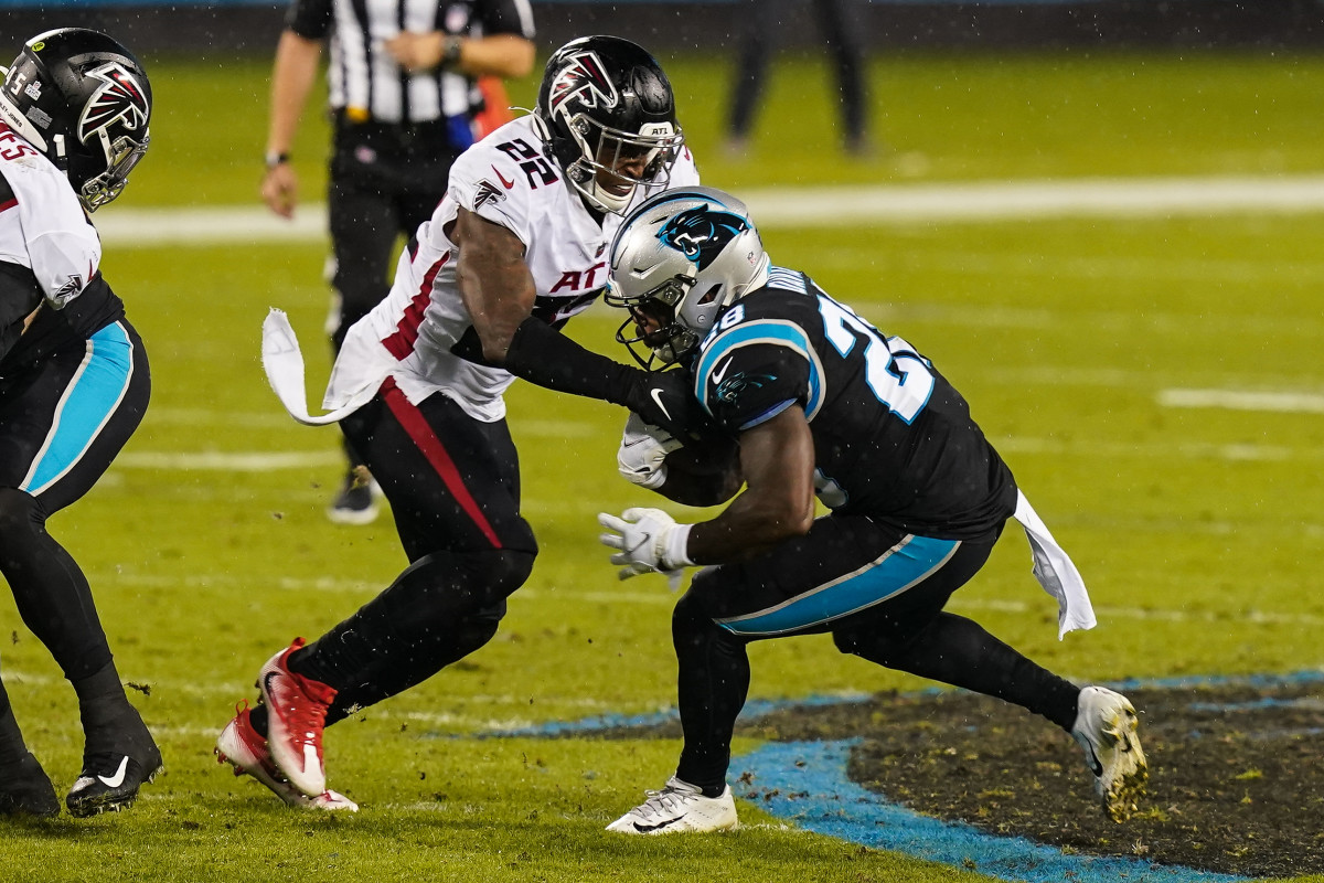 Mike Davis has shown promise to take over the lead running back job in Atlanta.