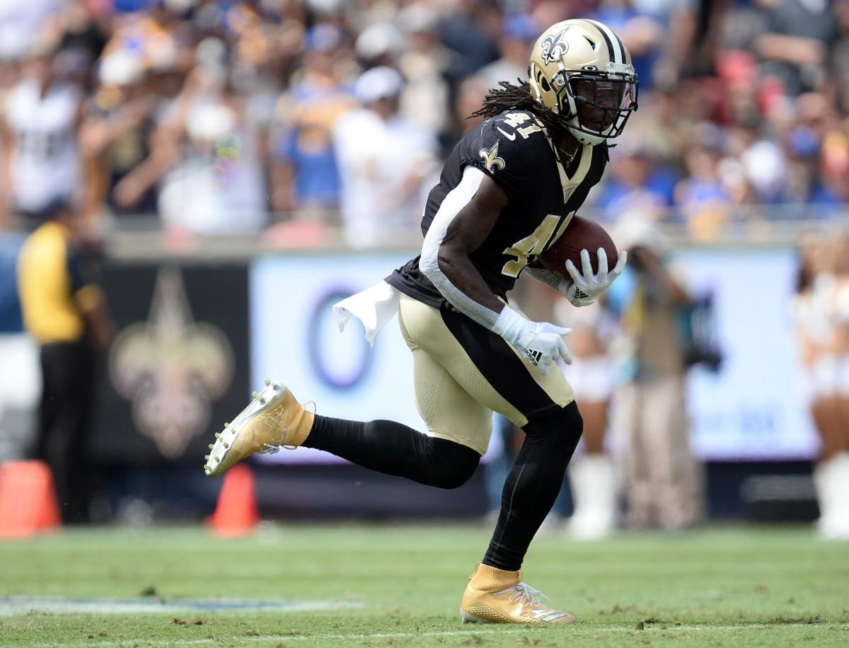 New Orleans Saints running back Alvin Kamara (41). Mandatory Credit: Gary A. Vasquez-USA TODAY Sports