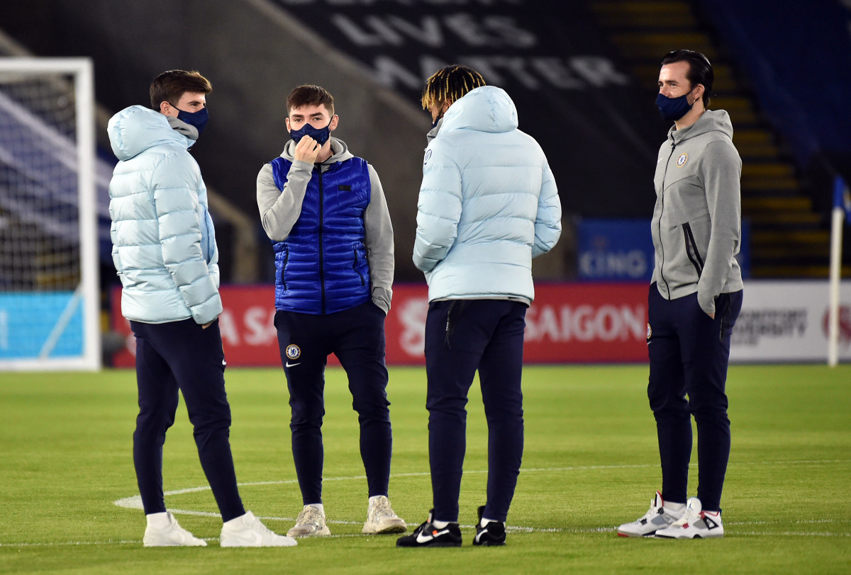 Chelsea trio Billy Gilmour, Mason Mount and Ben Chilwell are all isolating whilst Reece James is available for England