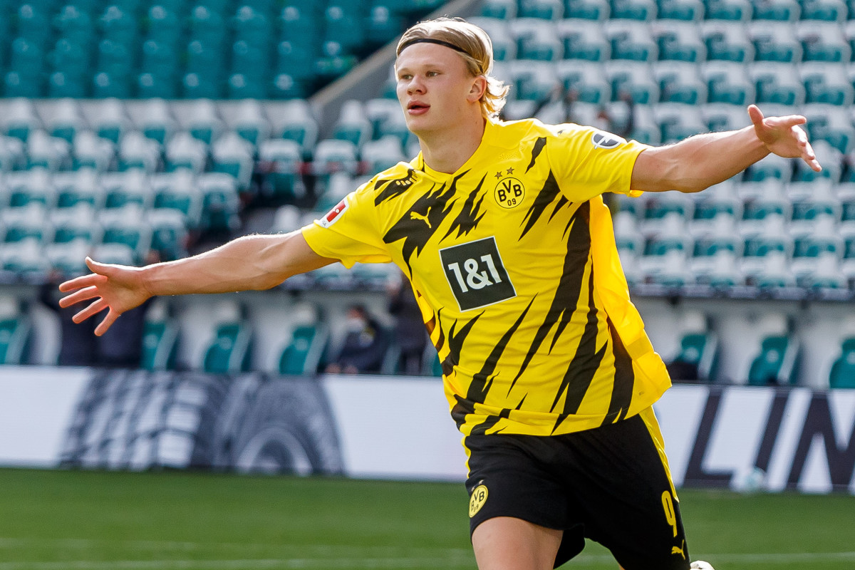 Haaland scored 41 goals in as many games for Dortmund last season