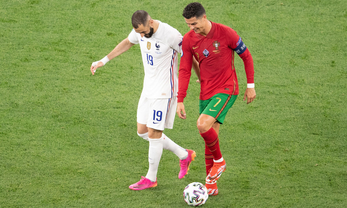 Former Real Madrid teammates Karim Benzema and Cristiano Ronaldo