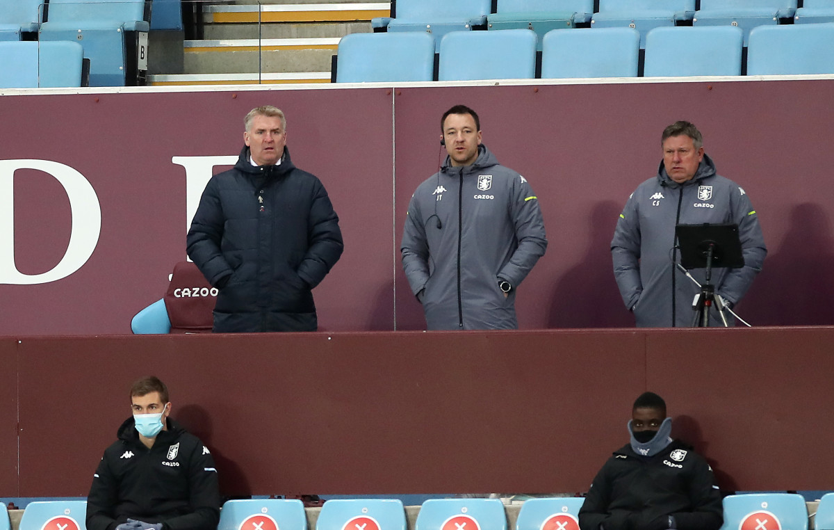 John Terry is Dean Smith's assistant at Aston Villa
