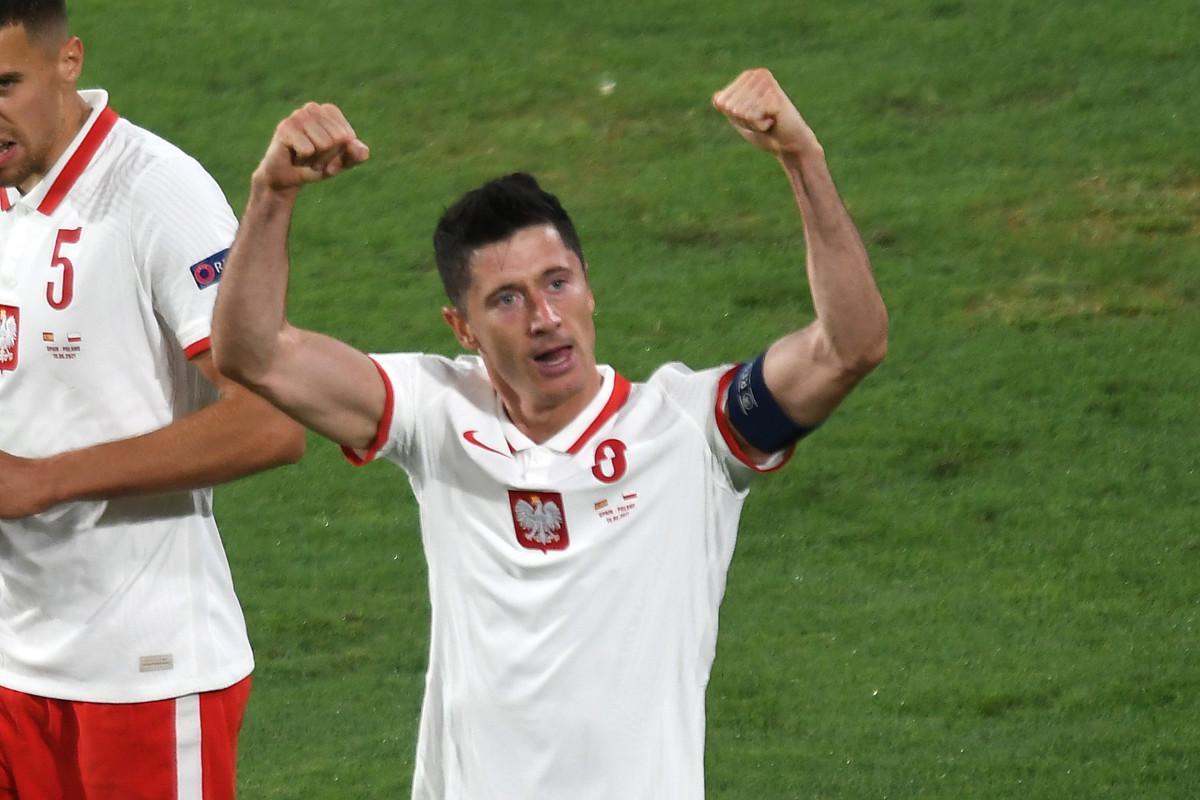 Lewandowski scored three goals at this summers European Championships for Poland