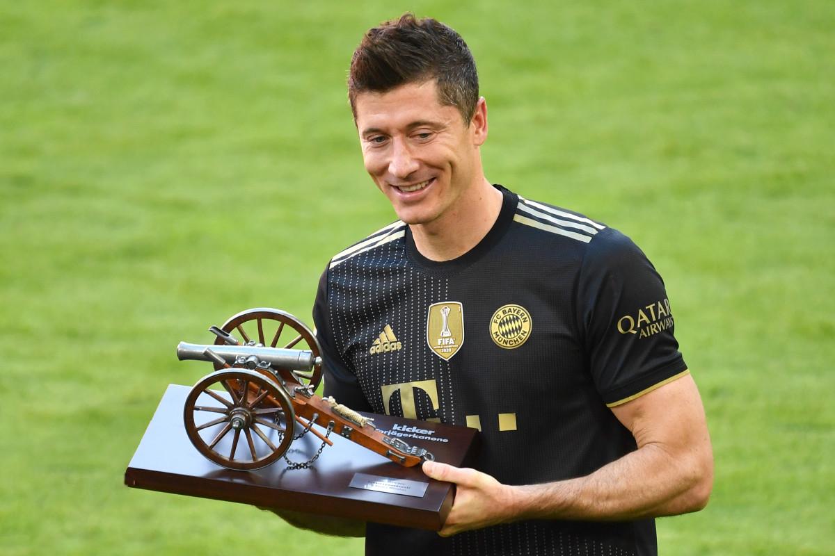 The striker broke Gerd Muller's Bundesliga record of most goals in a season last campaign, scoring 41 times