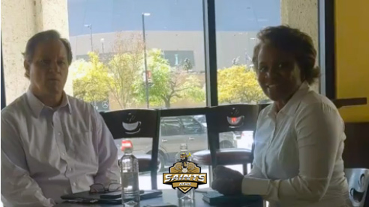 Mike Hoss with Dr. Carla Antoine