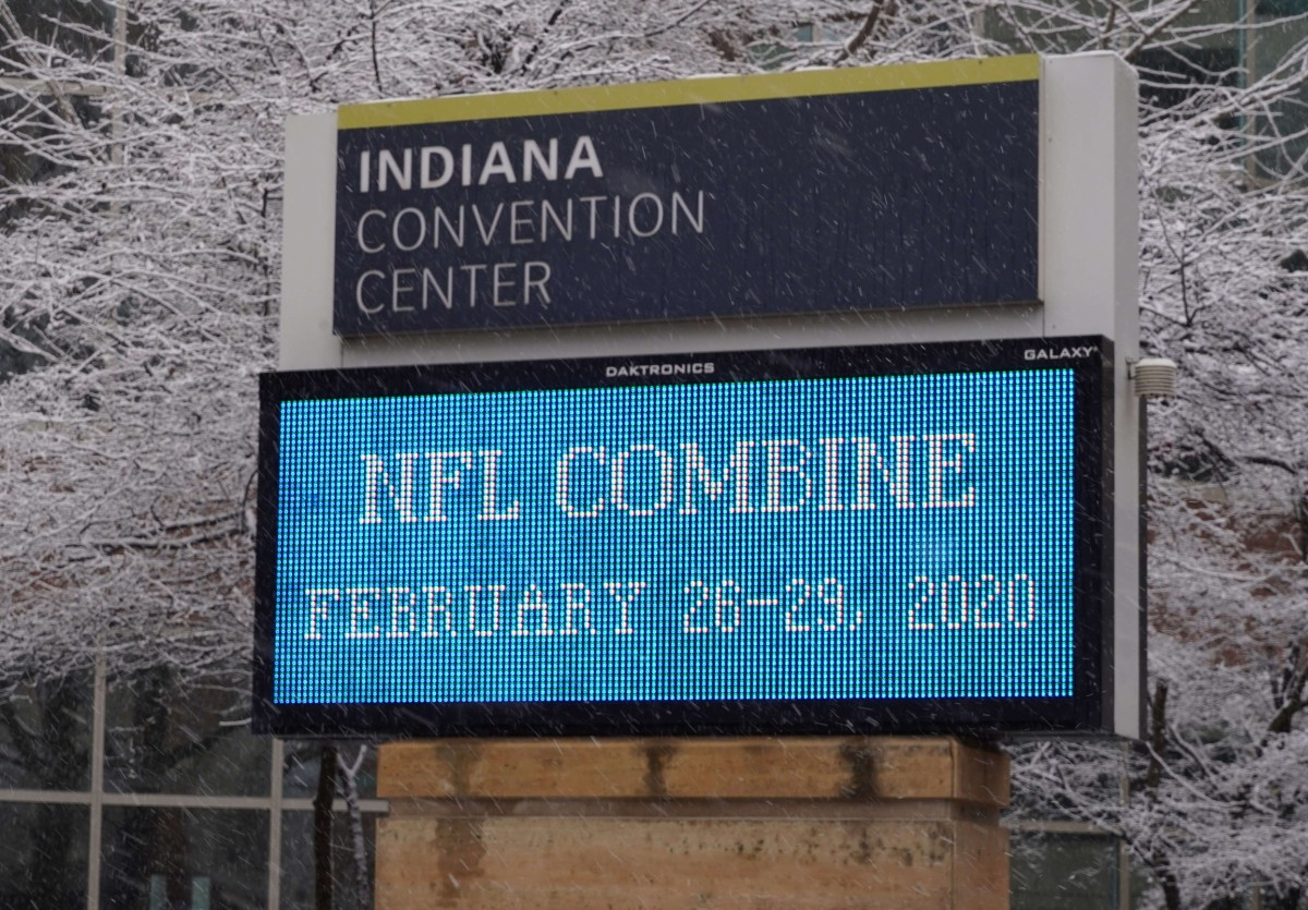 The NFL Scouting Combine will move out of Indiana after it holds the 2022 event