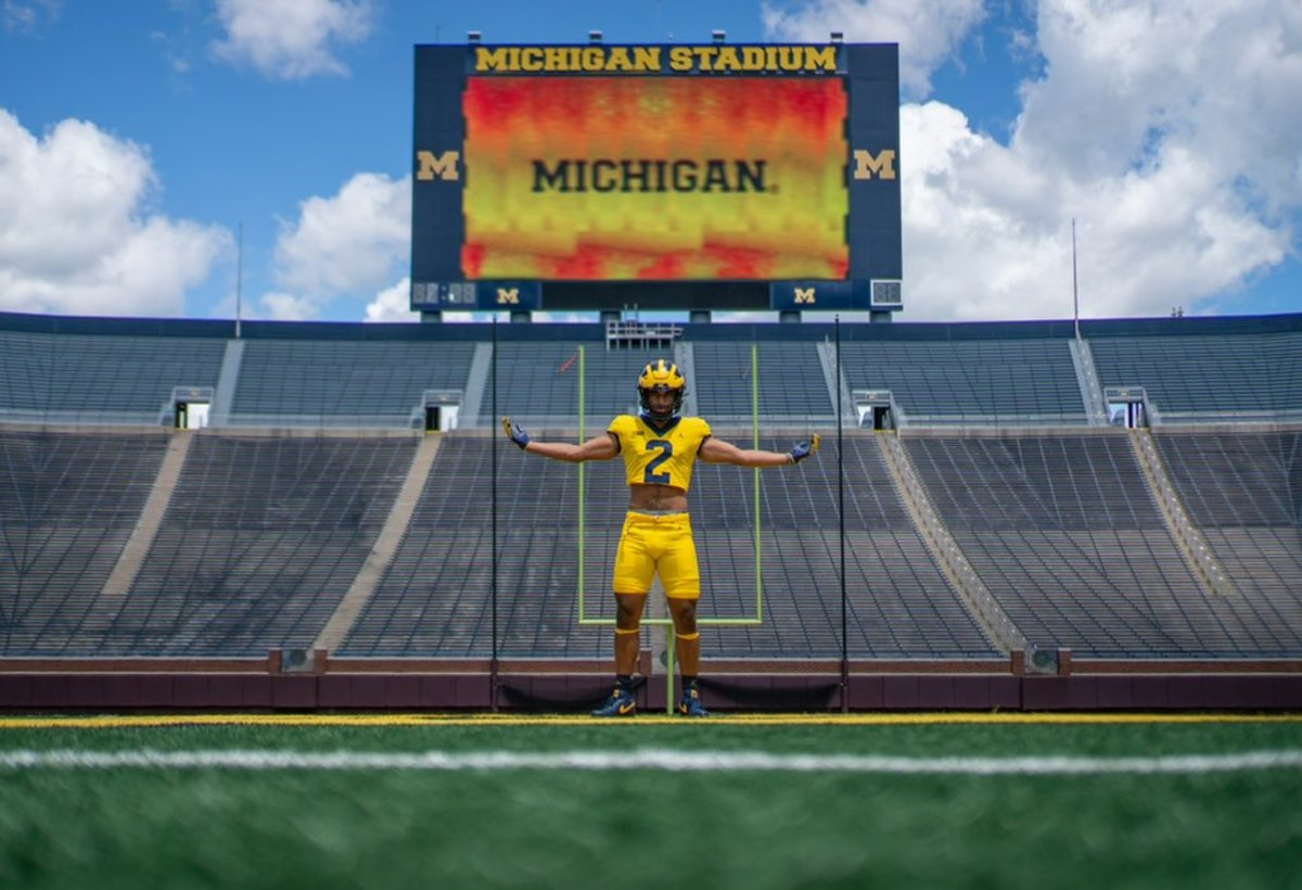 Cheeks during his official visit to Michigan this week.