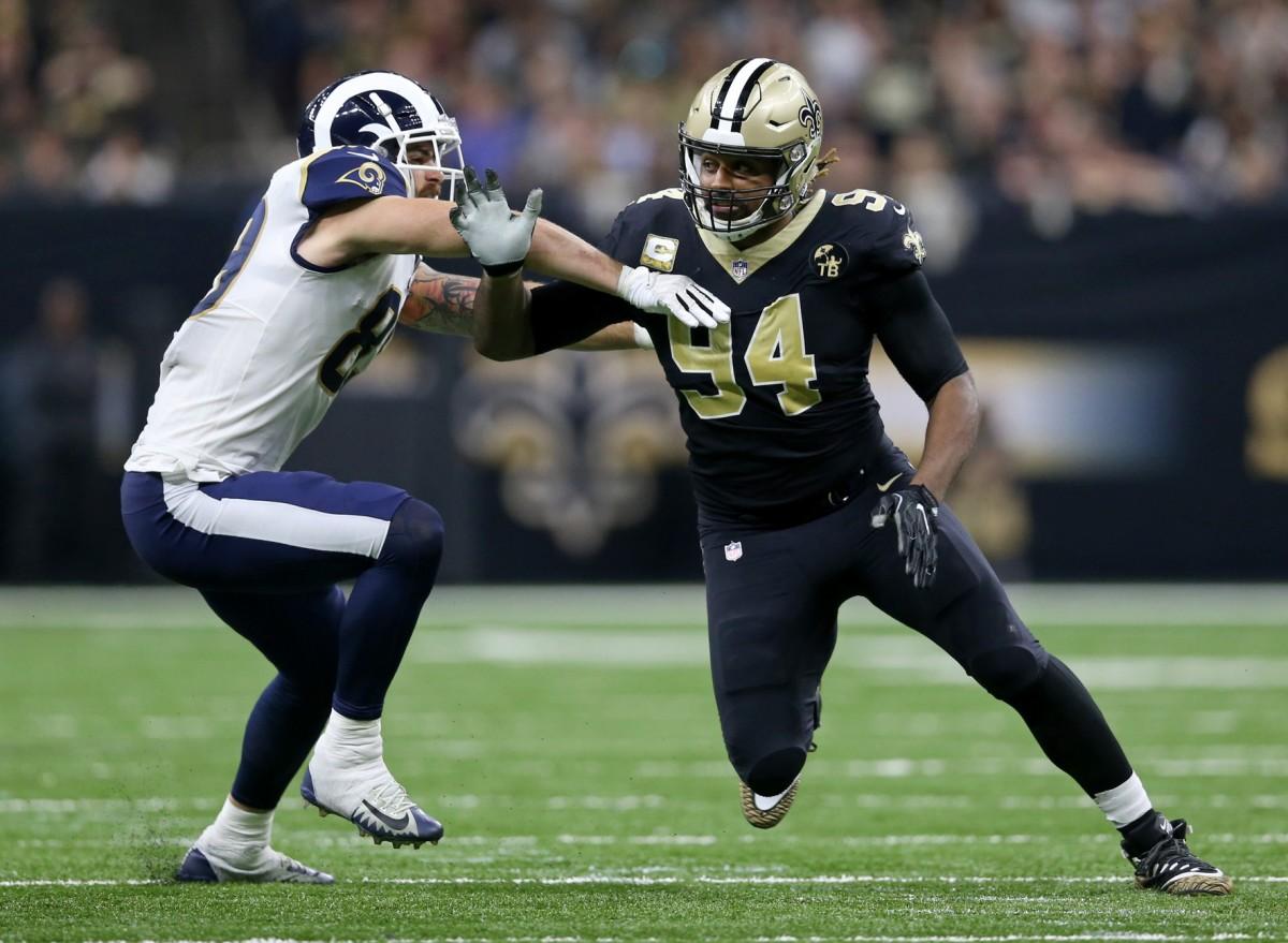 New Orleans Saints defensive end Cameron Jordan (94). Mandatory Credit: Chuck Cook-USA TODAY Sports