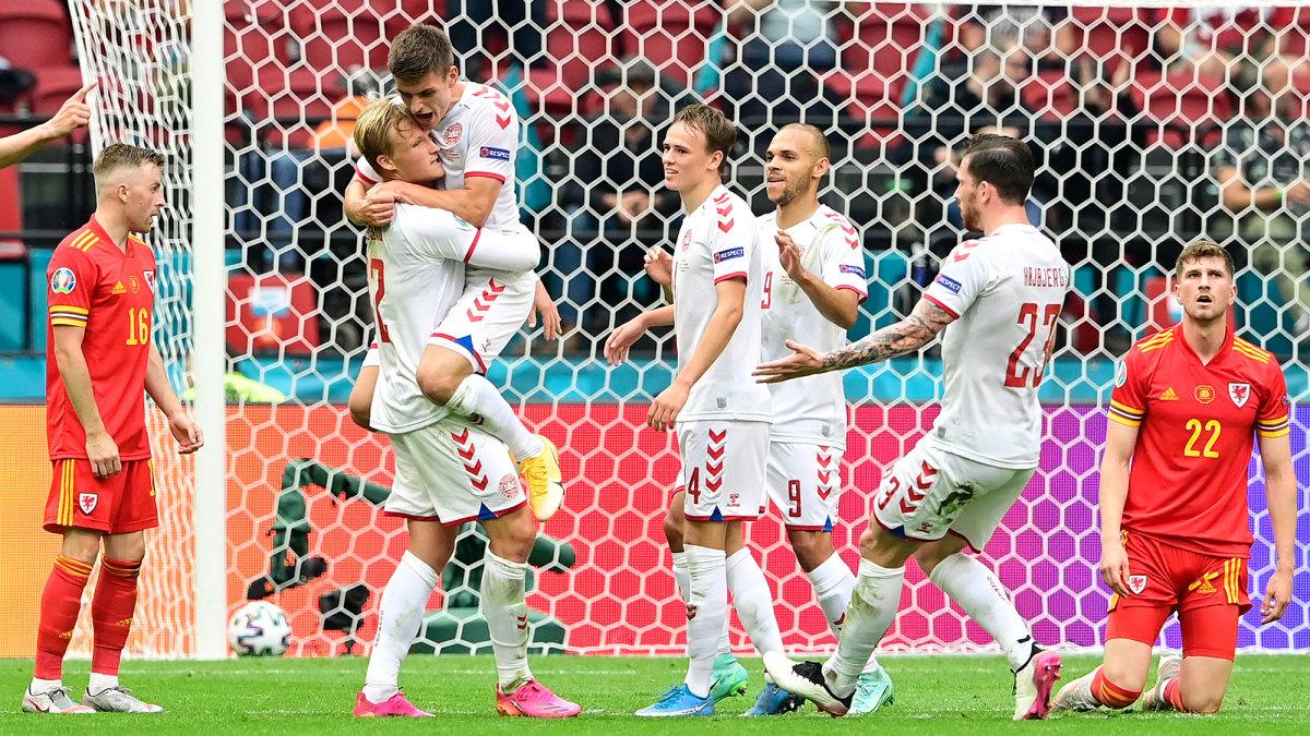 Denmark beats Wales at Euro 2020
