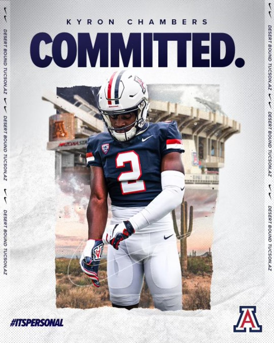 Kyron Chambers chose Arizona over other Pac-12 schools and big-name programs closer to home.