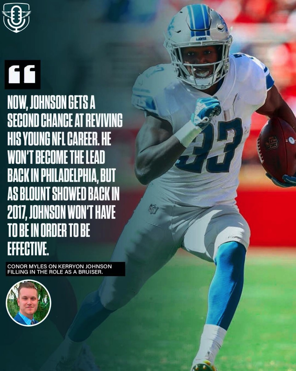 Kerryon Johnson could fill a role the Eagles have been searching for since LeGarrette Blount