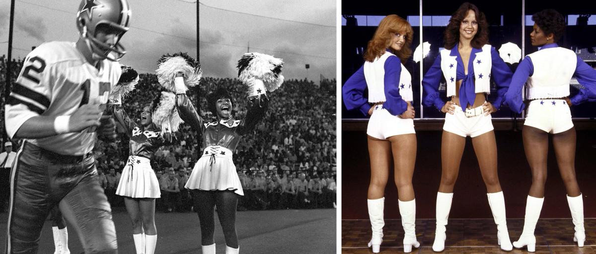 Dallas Cowboys Cheerleaders in 1970 vs. 1978