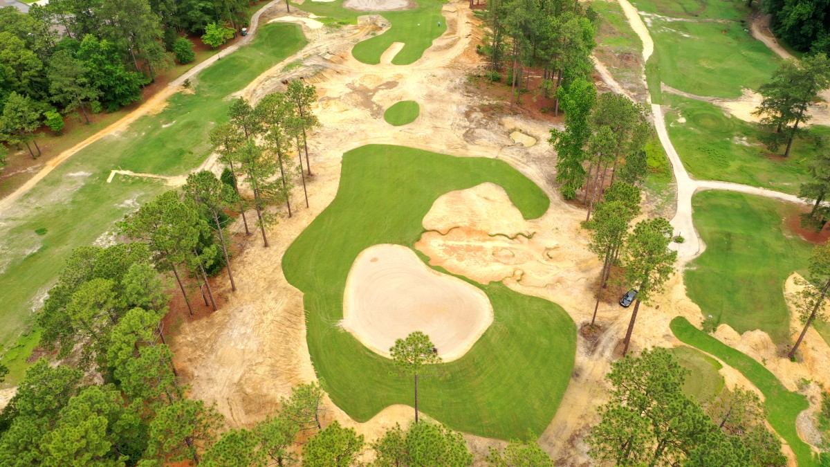 """The par-3 """"Lost Hole"""" was found while researching Donald Ross' original layout of Southern Pines Golf Club.."""