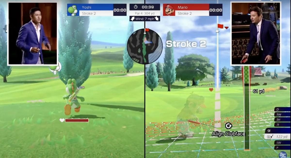 Collin Morikawa and Jimmy Fallon duel in Mario Golf