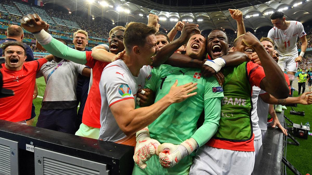 Die Schweiz und Yann Sommer feiern eine atemberaubende Überraschung von Frankreich bei der Euro 2020