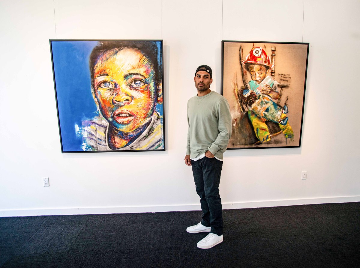 Micah Johnson discovered his passion for art after a spring training assignment from Dodgers manager Dave Roberts.