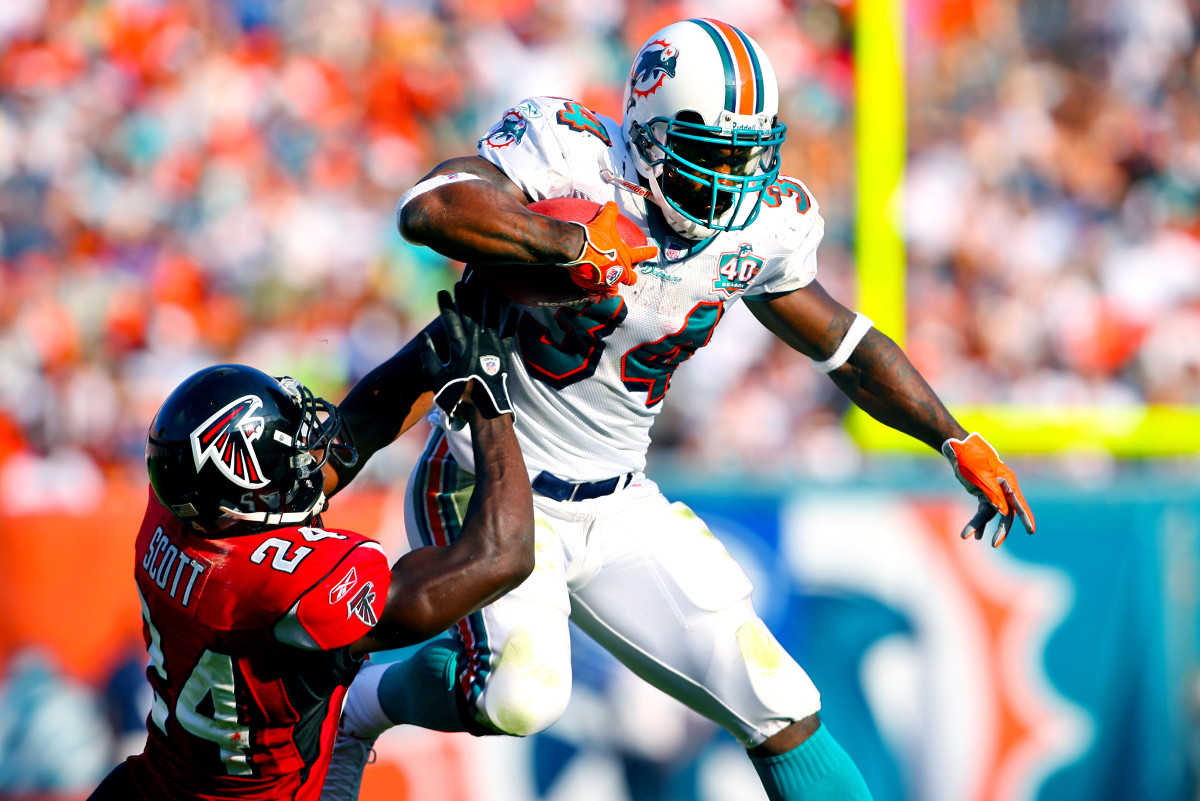 Amassed in Miami: 7,867 total yards from scrimmage and 54 TDs.