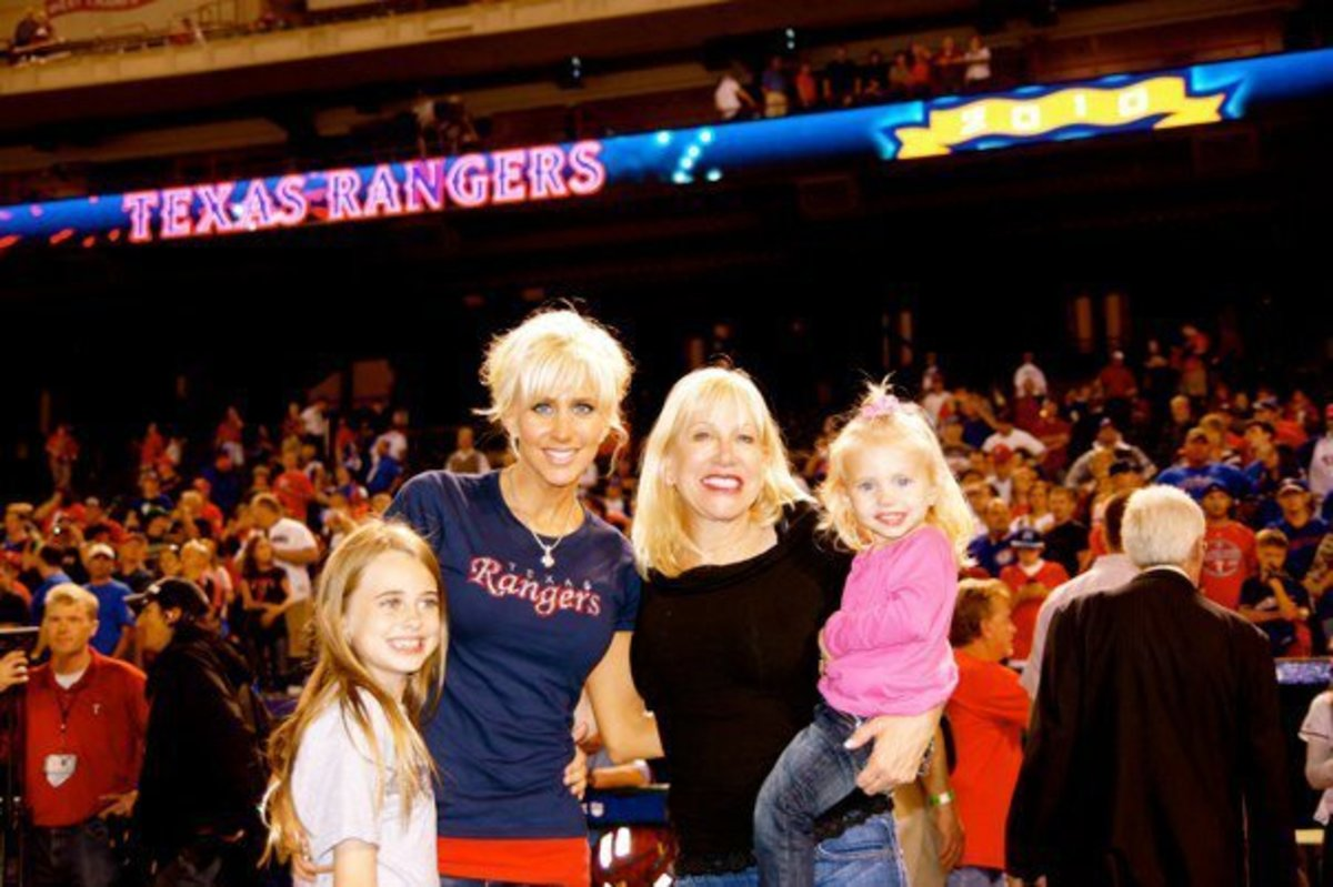 Katie with Julia; Katie's mother, Janice; and Sierra in 2010.