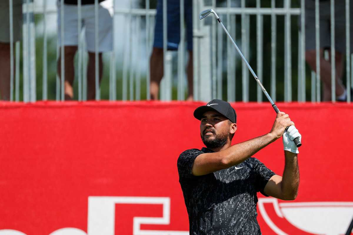 Jason Day shot a 1st-round 67 at the Rocket Mortgage Classic on Thursday.