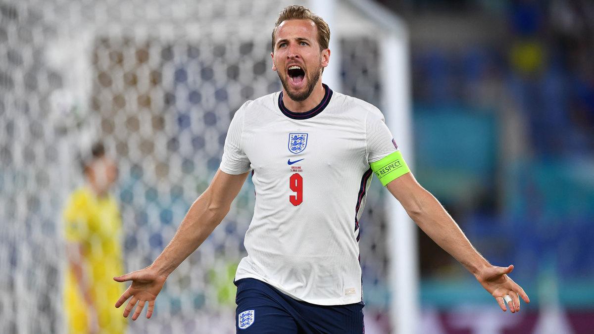 Harry Kane scores for England vs. Ukraine