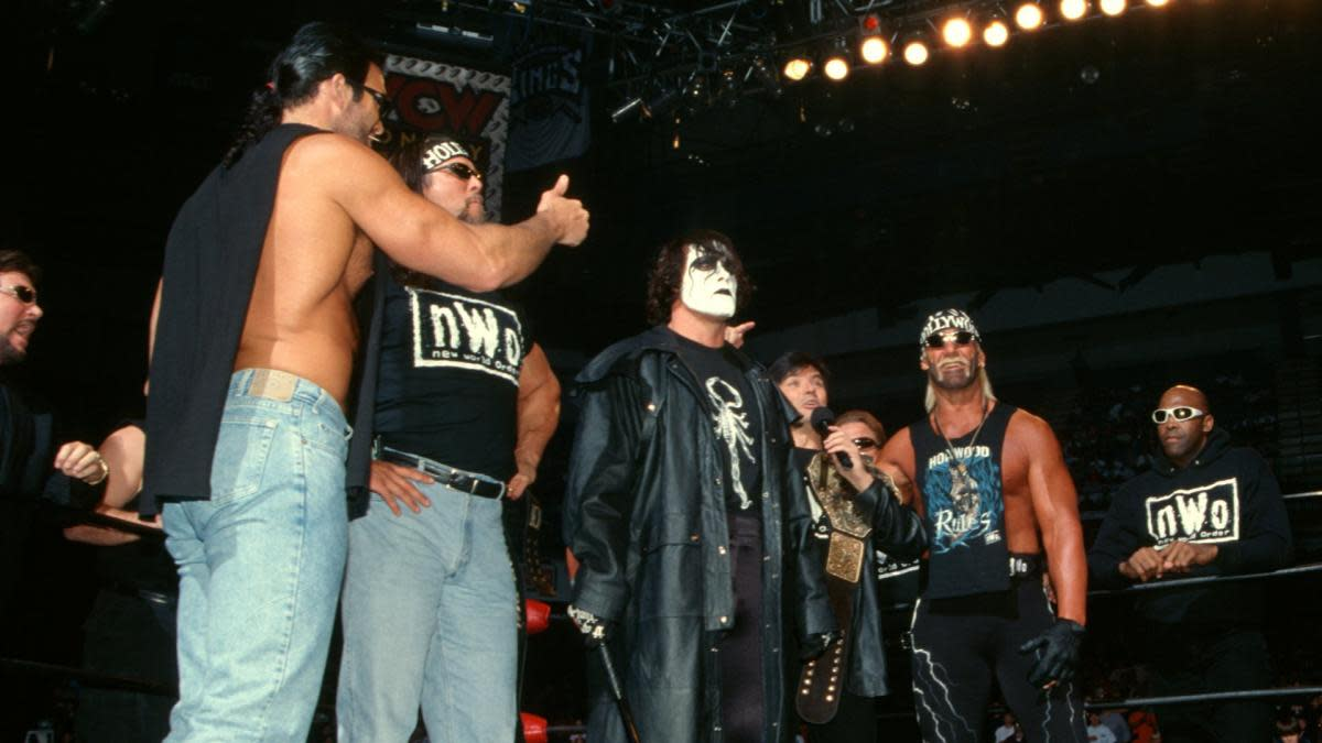 Sting in the ring with the NWO