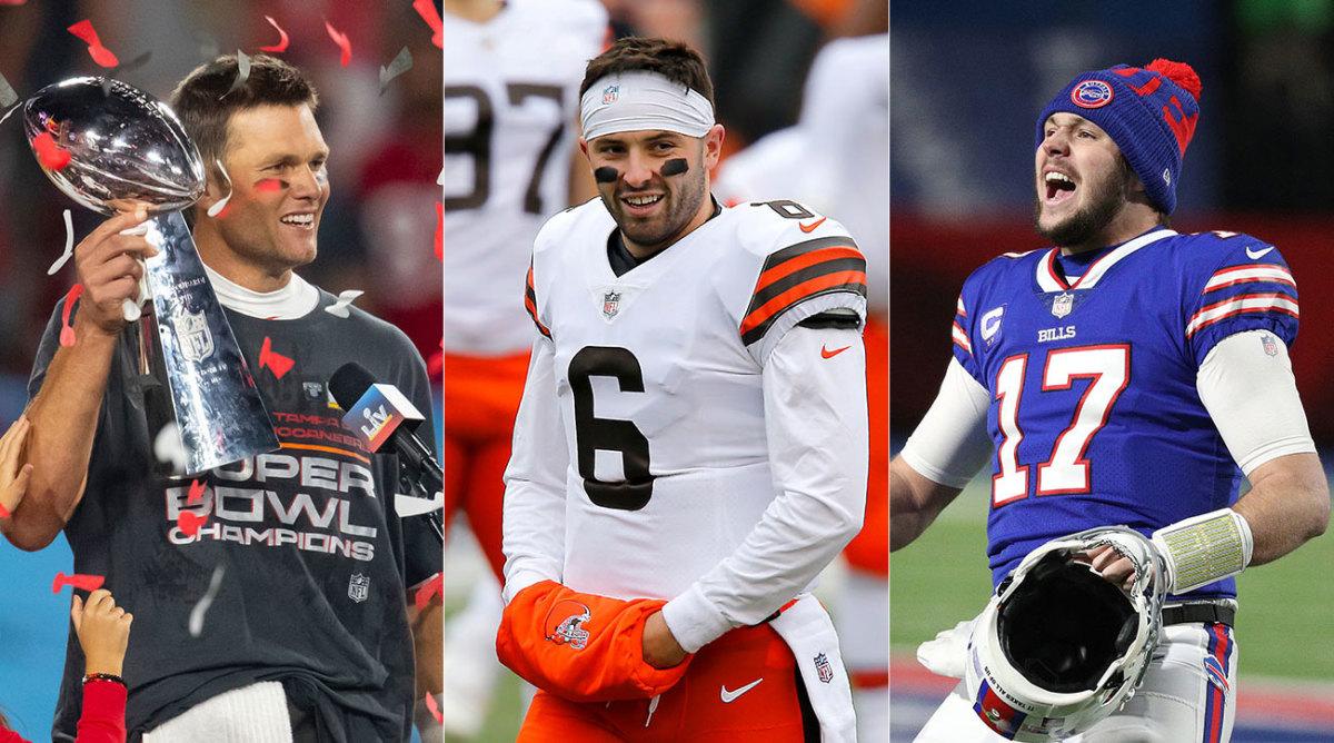 Tom Brady, Baker Mayfield, Josh Allen