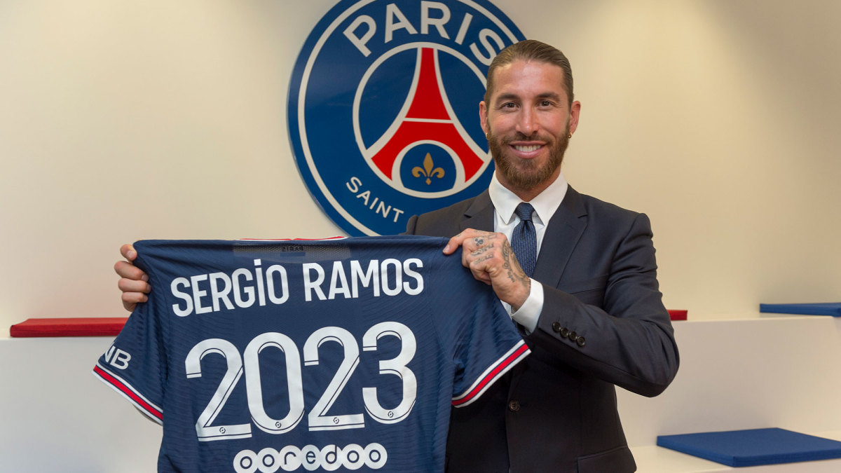 Sergio Ramos signs with PSG on a free transfer