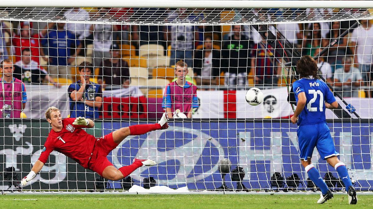 Italy's Andrea Pirlo connects on a Panenka penalty vs. England at Euro 2012